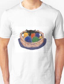 Kitten in Yarn Basket Unisex T-Shirt