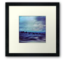 New Mexico Highway at Dusk Framed Print