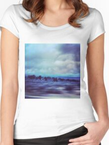 New Mexico Highway at Dusk Women's Fitted Scoop T-Shirt