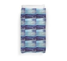 New Mexico Highway at Dusk Duvet Cover