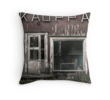 Cold heart of village Throw Pillow