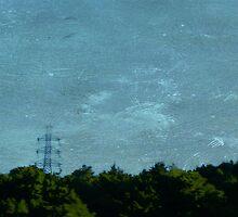 Scratched Zinc Sky. by Lynne Haselden
