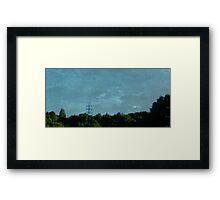 Scratched Zinc Sky. Framed Print