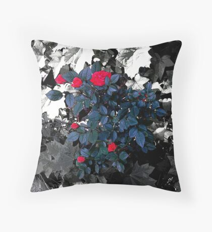 Rose Bush III Throw Pillow