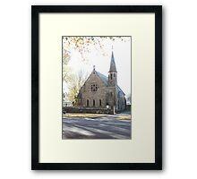 The First Church of St John, Ross Tasmania. Framed Print