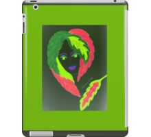 The girl with the leaves on her head iPad Case/Skin