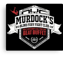 Murdock's Blind Fury Fight Club - Dist Red/White V03 Canvas Print