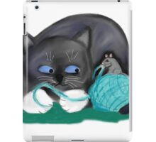 Aqua Ball of Yarn for Mouse and Kitten iPad Case/Skin