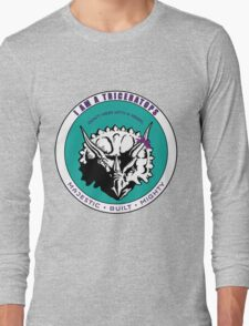 I am A Triceratops - Purple and Teal MBM Long Sleeve T-Shirt