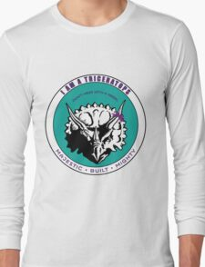 I am A Triceratops - Purple and Teal MBM T-Shirt