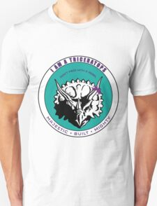 I am A Triceratops - Purple and Teal MBM Unisex T-Shirt