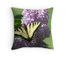 REDREAMING SWALLOWTAILS AND LILACS Throw Pillow