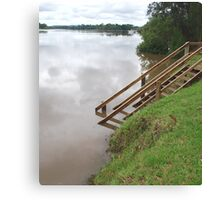 Manning River in Flood Canvas Print