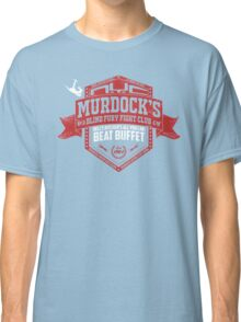 Murdock's Blind Fury Fight Club - Dist Red/White V02 Classic T-Shirt