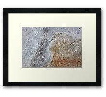 rust metal sheet  Framed Print