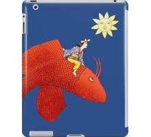 Girl on Flying Fish iPad Case/Skin