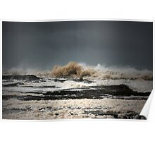 Stormy Snapper Rocks Poster