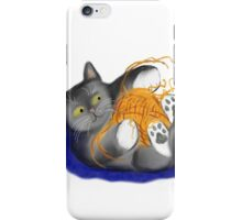 Orange Ball of Yarn and Kitty iPhone Case/Skin