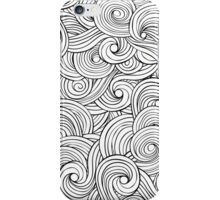 Waves pattern, wavy background iPhone Case/Skin