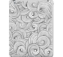 Waves pattern, wavy background iPad Case/Skin