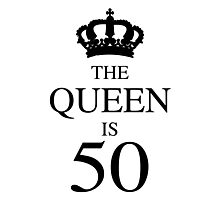 The Queen Is 50 Photographic Print