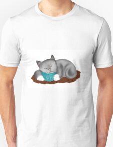 Yarn Pillow for Kitten Nap T-Shirt
