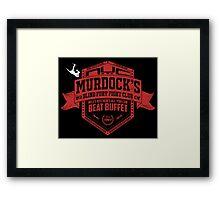 Murdock's Blind Fury Fight Club - Dist Red/White Framed Print