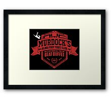 Murdock's Blind Fury Fight Club - Dist Red/White Framed Print