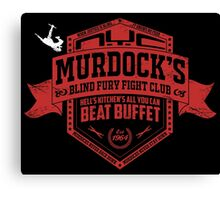 Murdock's Blind Fury Fight Club - Dist Red/White Canvas Print