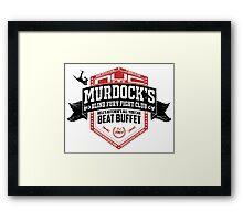 Murdock's Blind Fury Fight Club - Dist Black/Red/White 02 Framed Print
