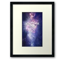 Wish and Work Galaxy Framed Print