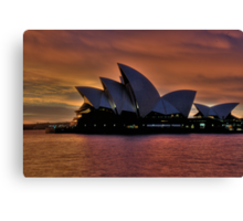 Diva Takes A Bow - Moods Of A City - The HDR Experience Canvas Print