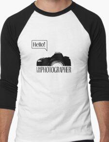 Hello... I am your photographer Men's Baseball ¾ T-Shirt