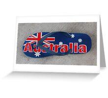 Australian thong Greeting Card