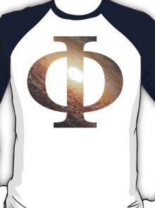 Galactic Fire | Uppercase Phi T-Shirt