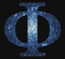 Blue Cluster Galaxy | Uppercase Phi by SirDouglasFresh