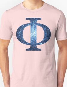 Blue Cluster Galaxy | Uppercase Phi T-Shirt