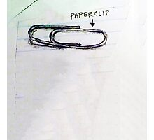 Paperclip Photographic Print