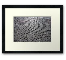 Stone Pavement Framed Print