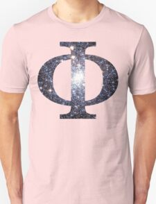 Cluster Galaxy | Uppercase Phi T-Shirt