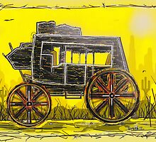 Old West Stagecoach by Jason Girard