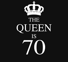 The Queen Is 70 Womens Fitted T-Shirt
