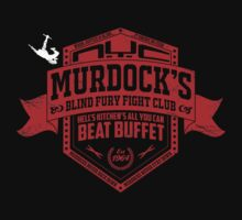 Murdock's Blind Fury Fight Club - Dist Red/White by coldbludd