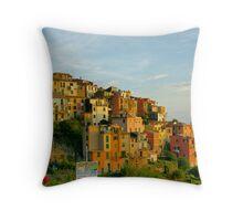 Corniglia Evening, Cinque Terre Throw Pillow