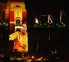 Harry Kewell and Harbour Bridge by Kamran Baig