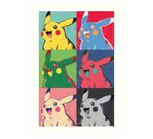 Warhol Pikachu Art Print