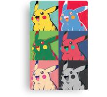 Warhol Pikachu Canvas Print