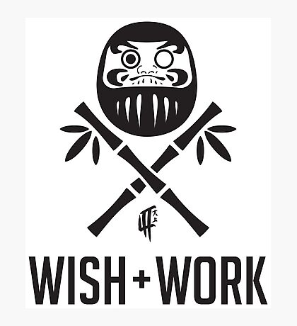 Wish and Work Photographic Print