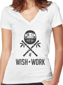 Wish and Work Women's Fitted V-Neck T-Shirt
