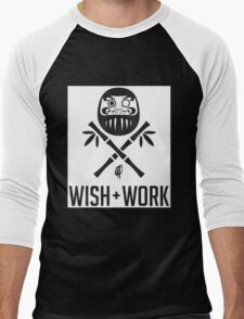 Wish and Work Men's Baseball ¾ T-Shirt